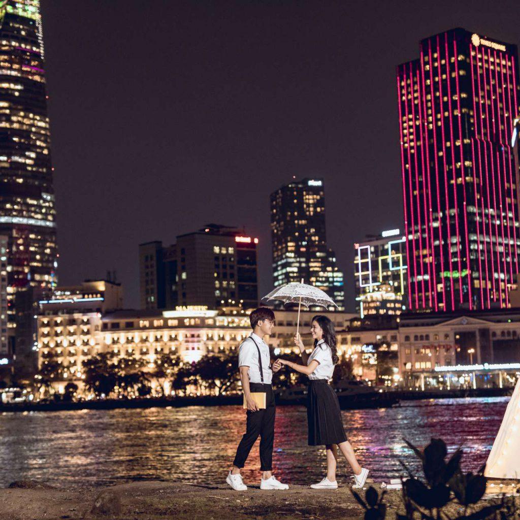 Ảnh cưới ngoại cảnh Sài Gòn hình 6