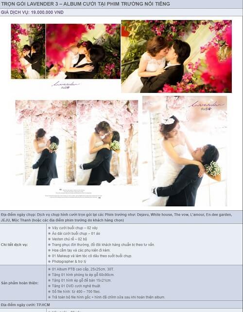 Báo giá album cưới trọn gói của Lavender Studio - hình ảnh 3