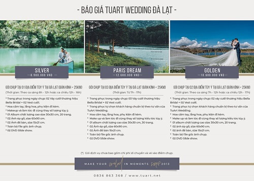 Bảng giá chụp hình cưới của Tuart Wedding tại Đà Lạt - hình ảnh 1