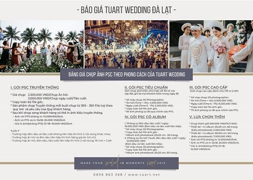 Bảng giá chụp hình cưới của Tuart Wedding tại Đà Lạt - hình ảnh 3