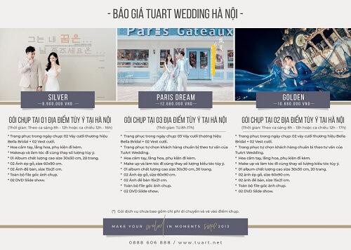 Bảng giá chụp hình cưới của Tuart Wedding tại Hà Nội - hình ảnh 1