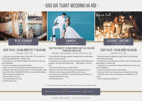 Bảng giá chụp hình cưới của Tuart Wedding tại Hà Nội - hình ảnh 2