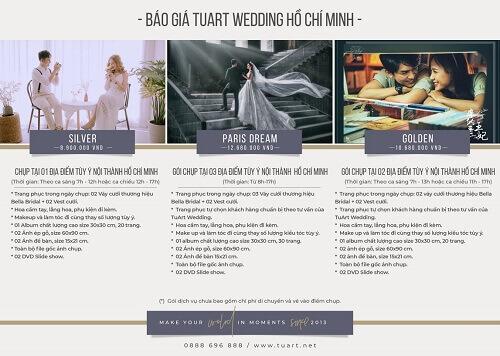 Bảng giá chụp hình cưới của Tuart Wedding tại TPHCM - hình ảnh 1