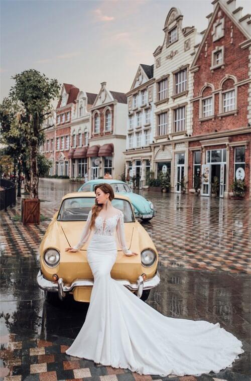 Ảnh cưới mang phong cách cổ điển ở Công viên châu Á - hình ảnh 4