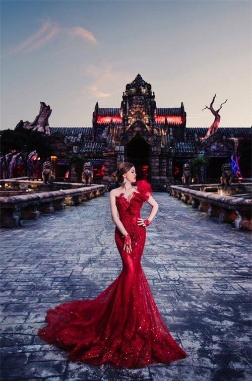 Ảnh cưới mang phong cách cổ điển ở Công viên châu Á - hình ảnh 8