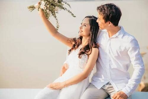 Ảnh cưới mùa lá vàng Bình Dương ngỡ là cảnh sắc thu Hàn Quốc - hình ảnh 15