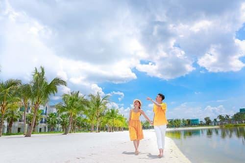 """Biển Vinhomes Ocean Park: Điểm chụp ảnh cưới """"chất lừ"""" của các cặp đôi - hình ảnh 12"""