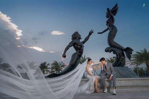 """Biển Vinhomes Ocean Park: Điểm chụp ảnh cưới """"chất lừ"""" của các cặp đôi - hình ảnh 4"""