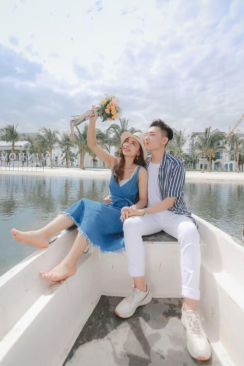 """Biển Vinhomes Ocean Park: Điểm chụp ảnh cưới """"chất lừ"""" của các cặp đôi - hình ảnh 9"""