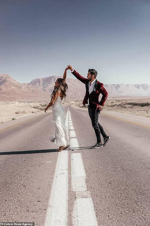 Cặp đôi chịu chơi nhất hành tinh: Đi du lịch vòng quanh thế giới để chụp ảnh cưới và sống lại ngày hạnh phúc nhất - hình ảnh 13