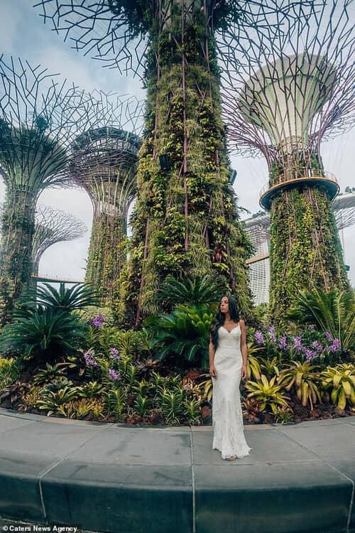 Cặp đôi chịu chơi nhất hành tinh: Đi du lịch vòng quanh thế giới để chụp ảnh cưới và sống lại ngày hạnh phúc nhất - hình ảnh 4