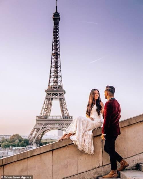 Cặp đôi chịu chơi nhất hành tinh: Đi du lịch vòng quanh thế giới để chụp ảnh cưới và sống lại ngày hạnh phúc nhất - hình ảnh 6