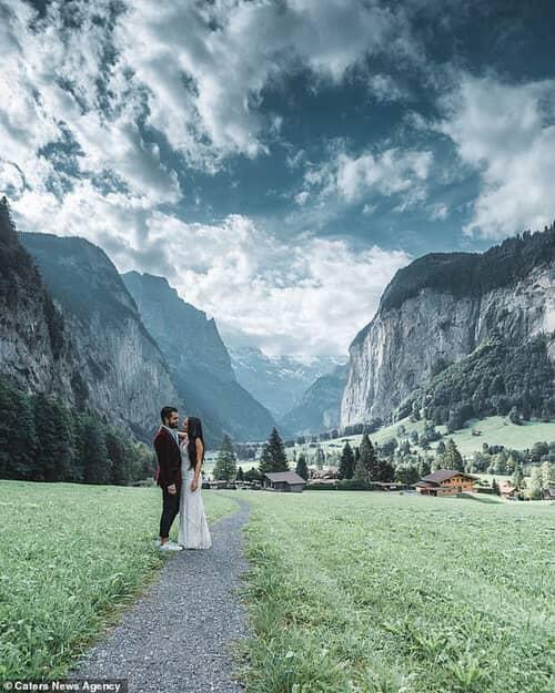 Cặp đôi chịu chơi nhất hành tinh: Đi du lịch vòng quanh thế giới để chụp ảnh cưới và sống lại ngày hạnh phúc nhất - hình ảnh 7
