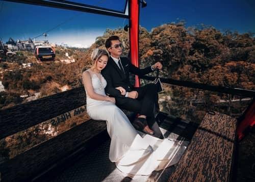 Cây cầu Vàng Đà Nẵng thu hút hàng nghìn cặp đôi đổ xô về chụp ảnh cưới - hình ảnh 11