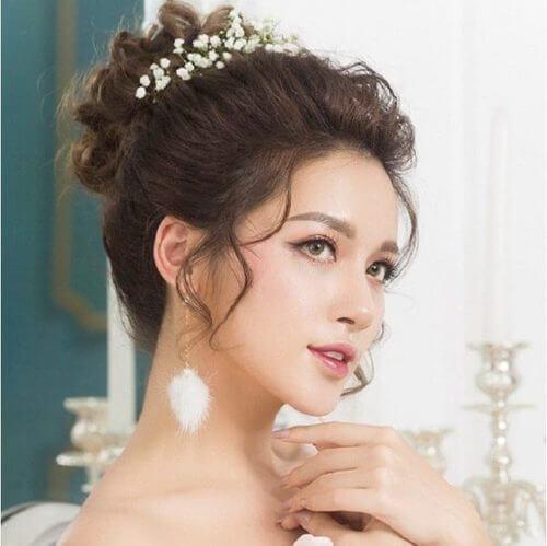 Top 10 kiểu tóc cô dâu đẹp nhất 2019 cho ngày cưới thêm hoàn hảo - hình ảnh 11
