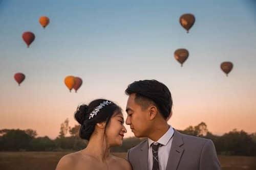 Uyên ương chạy đua cùng mặt trời khi chụp ảnh cưới ở Bagan - hình ảnh 1