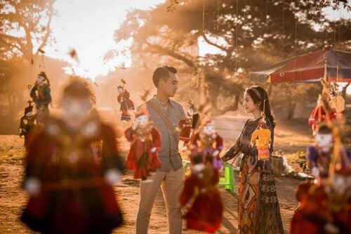Uyên ương chạy đua cùng mặt trời khi chụp ảnh cưới ở Bagan - hình ảnh 11