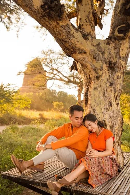 Uyên ương chạy đua cùng mặt trời khi chụp ảnh cưới ở Bagan - hình ảnh 14