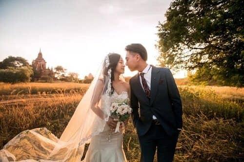 Uyên ương chạy đua cùng mặt trời khi chụp ảnh cưới ở Bagan - hình ảnh 2