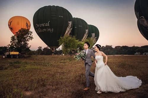 Uyên ương chạy đua cùng mặt trời khi chụp ảnh cưới ở Bagan - hình ảnh 3