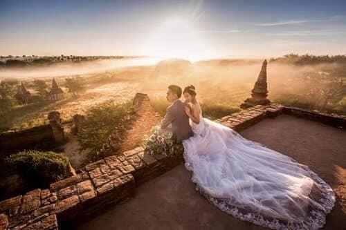 Uyên ương chạy đua cùng mặt trời khi chụp ảnh cưới ở Bagan - hình ảnh 4