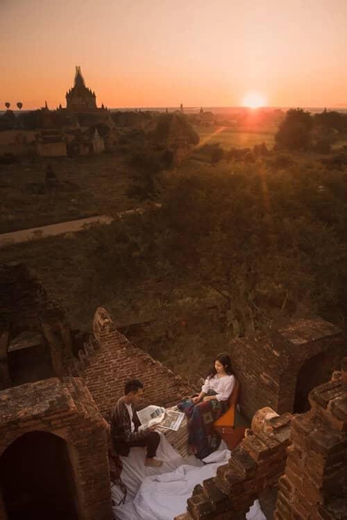 Uyên ương chạy đua cùng mặt trời khi chụp ảnh cưới ở Bagan - hình ảnh 7