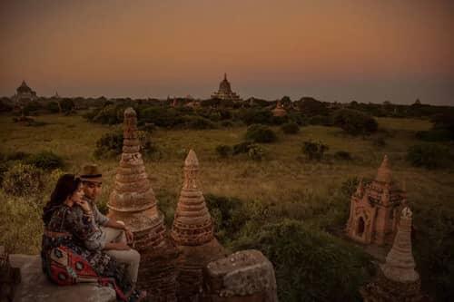 Uyên ương chạy đua cùng mặt trời khi chụp ảnh cưới ở Bagan - hình ảnh 8