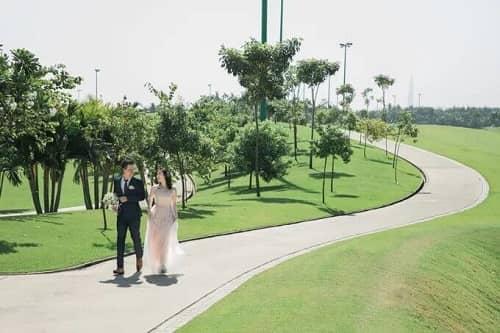 Uyên ương TPHCM chụp ảnh cưới có '1-0-2' ở sân golf - hình ảnh 5