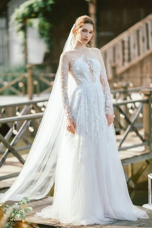 Xu hướng váy cưới boho chic cho mùa thu đông - hình ảnh 3