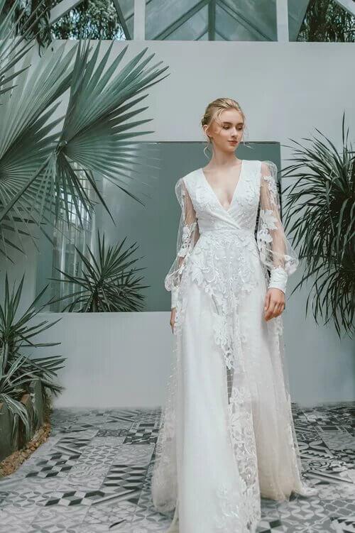 Xu hướng váy cưới boho chic cho mùa thu đông - hình ảnh 9