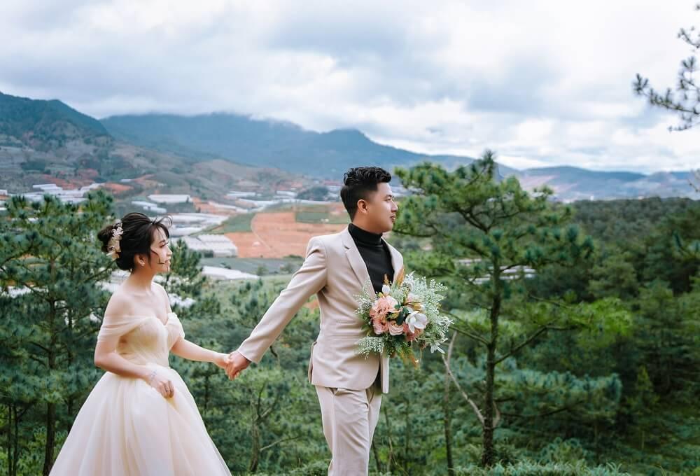 Chụp ảnh cưới ngoại cảnh Đà Lạt - hình 3